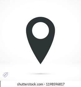 location vector icon, stock vector illustration flat design style