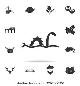 Loch Ness monster icon. Detailed set of United Kingdom culture icons. Premium quality graphic design. One of the collection icons for websites, web design, mobile app on white background