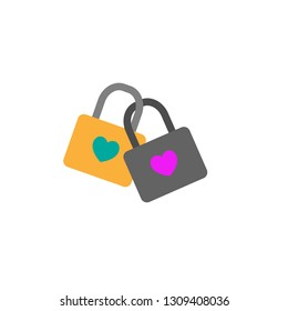 Lock with heart icon. Element of Web Valentine day icon for mobile concept and web apps. Detailed Lock with heart icon can be used for web and mobile