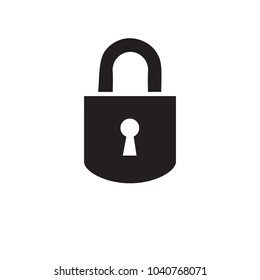 Lock icon. Concept password, blocking, security. Icon for web and mobile application. Vector illustration.