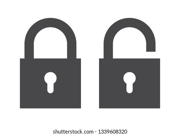 Lock icon. Encryption icon. Lock Icon in trendy flat style isolated on white background. Security symbol for web design