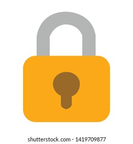 lock icon. flat illustration of lock vector icon for web