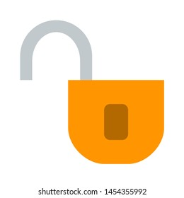 lock icon. flat illustration of lock. vector icon. lock sign symbol