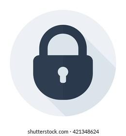Lock icon Flat security secret