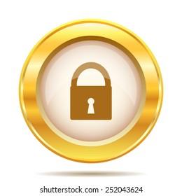 Lock icon. Internet button on white background. EPS10 vector.