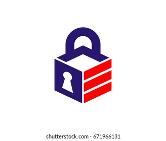 Lock icon logo vector for security company, storage etc.