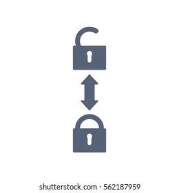 Lock Icon Vector flat design style