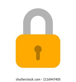 Lock icon, vector padlock - security symbol, lock sign - protection illustration