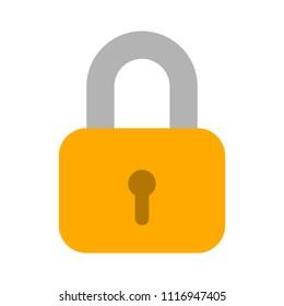 Lock icon, vector padlock - security symbol, lock sign - protection illustration