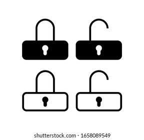 Lock icon vector padlock, security sign, safety symbol, safe icon, flat design illustration