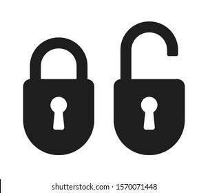 Lock icons set. Padlock icons set. Vector