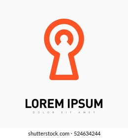 Lock isolated minimal single flat linear icon. Keyhole line vector icon for websites and mobile minimalistic flat design