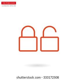 lock line vector icon