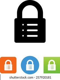 Lock with list icon