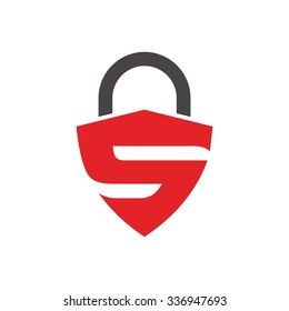 lock logo with letter s logo vector.