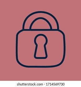 Lock outline vector icon eps10