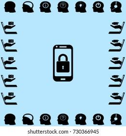 Lock smartphone vector icon