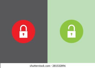 lock and unlock icon