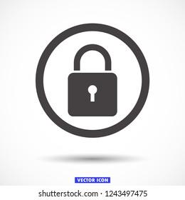 lock vector icon 10 eps