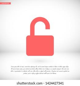 lock vector icon 10 eps , Lorem ipsum Flat design