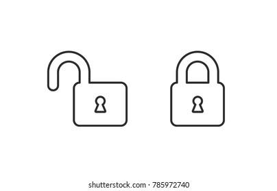 Lock vector icon / Vector lock / closed lock / lock icon