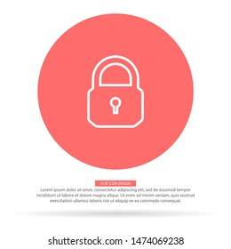 Lock Vector icon . Lorem Ipsum Illustration design