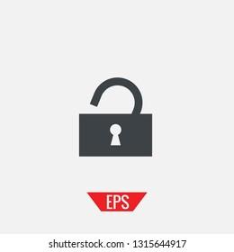 Lock vector icon open