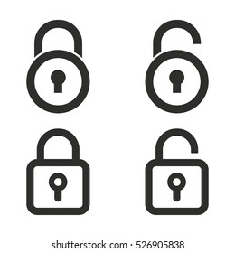 Lock vector icons set. Illustration isolated for graphic and web design.