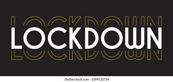 lockdown. lettering wallpaper Free Vector Background