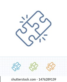 match icon vector images stock photos vectors shutterstock https www shutterstock com image vector locked puzzle pieces contrast stroke icons 1476289139