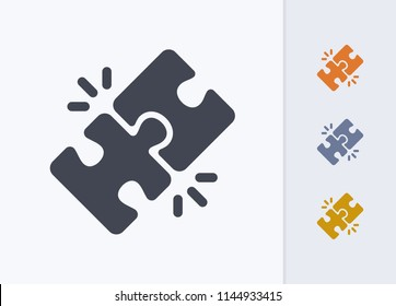 Locked Puzzle Pieces - Pastel Cutwork Icons. A professional, pixel-aligned icon.