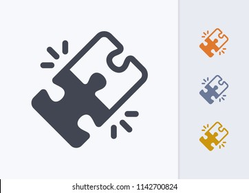 Locked Puzzle Pieces - Pastel Stencyl Icons. A professional, pixel-aligned icon.