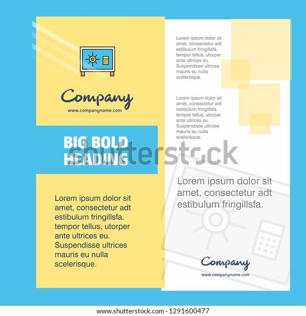Locker Company Brochure Title Page Design Stock Vector
