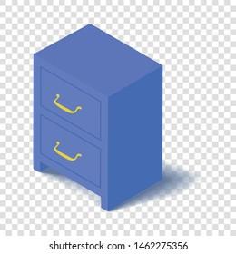 Locker icon. Isometric illustration of locker vector icon for web