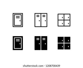 Locker Icon Logo Vector Symbol. Door Icon