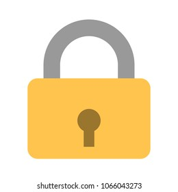 Locker icon, vector padlock symbol, key lock illustration, privacy and password icon