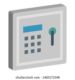 Locker Isometric Vector icon Which can easily modify or edit