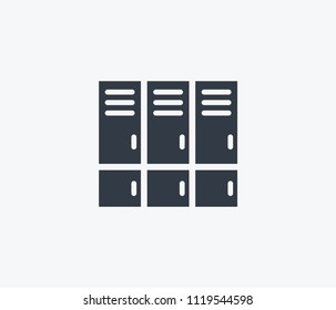 Lockers icon isolated on clean background. Lockers icon concept drawing icon in modern style. Vector illustration for your web mobile logo app UI design.