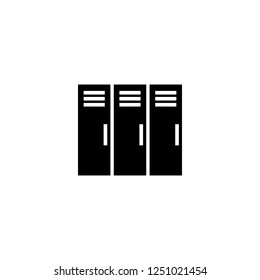 lockers vector icon. lockers sign on white background. lockers icon for web and app