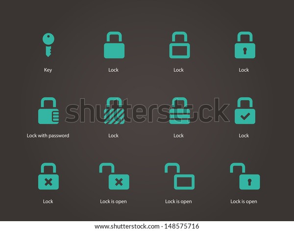 Locks icons. Vector illustration.