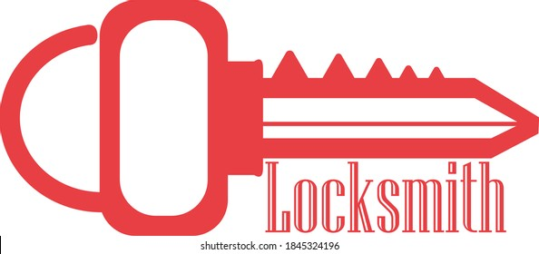 the locksmith logo for business