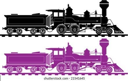 Locomotive Icon Illustration Vintage