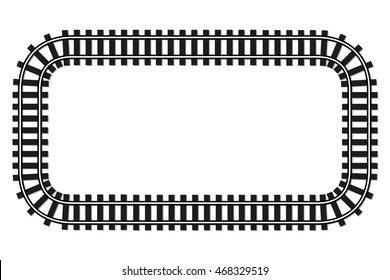 locomotive railroad top view track frame rail transport background border with place for text banner illustration