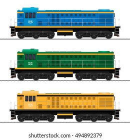 Locomotive. Railway train. vector