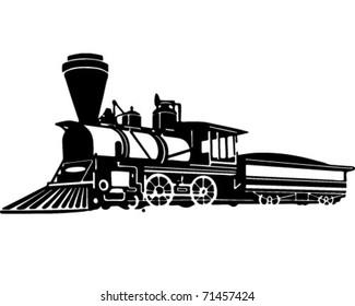 Locomotive - Retro Ad Art Illustration
