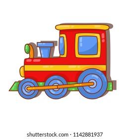 Locomotive train toy colorful cute doodle vector icon
