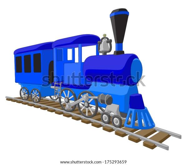 Locomotive -  Vector Artwork (isolated on white background).