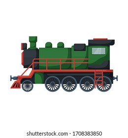 Locomotive vector icon.Cartoon vector icon isolated on white background locomotive.