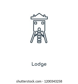 Lodge concept line icon. Linear Lodge concept outline symbol design. This simple element illustration can be used for web and mobile UI/UX.