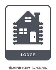 lodge icon vector on white background, lodge trendy filled icons from Camping collection, lodge vector illustration